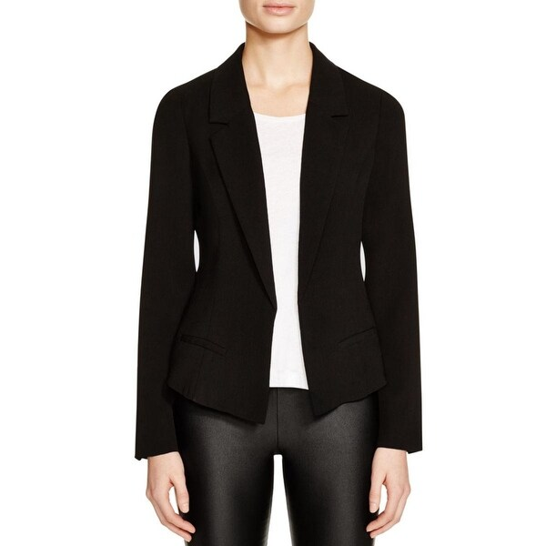 Aqua Womens Casual Blazer Crinkled Solid