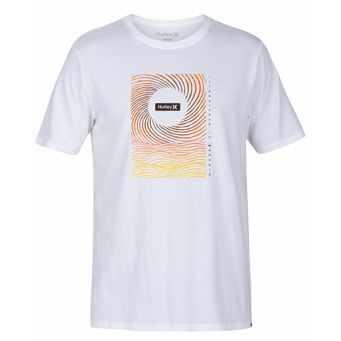 New Hurley white tropical 2 sided t shirt boys youth sz small