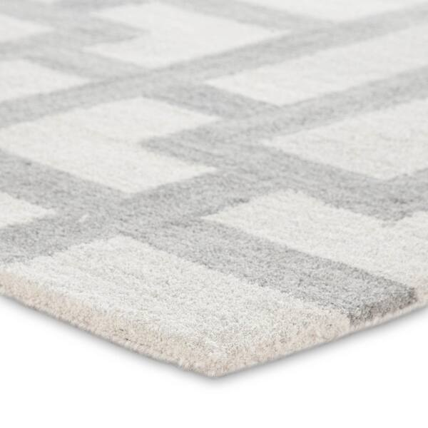 Crawford Handmade Geometric Cream Grey Area Rug Overstock 21705612