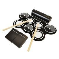 Electronic Drum Kit - Compact Drumming Machine, Quick Setup Roll-Up Design