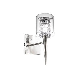 Bazz Lighting M3820CB Topaz Series Single-Light Small Wall Sconce, Finished in Chrome