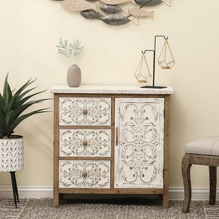 Link to Shabby Chic Wood Fleur-Di-Lis Accent Cabinet Similar Items in Living Room Furniture