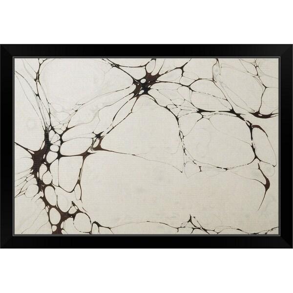 """""""Marble"""" Black Framed Print"""