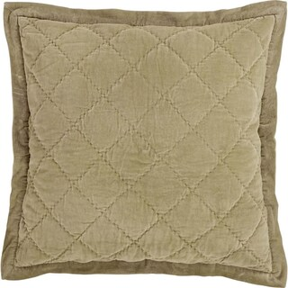VHC Brands Lydia Cotton Euro Sham with Tie Closures, Taupe