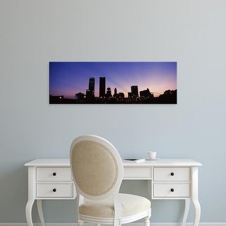 Easy Art Prints Panoramic Images's 'Downtown skyline at night, Oklahoma City, Oklahoma, USA' Premium Canvas Art