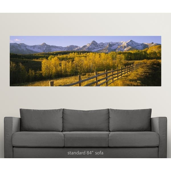 Trees In A Field Near A Wooden Fence Dallas Divide San Juan Mountains Colorado Poster Print Overstock 16881079