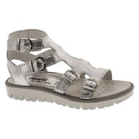 Primigi Girls 13821 Fashion Gladiator Buckle Sandals - Silver