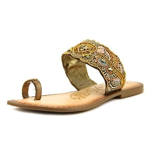 Naughty Monkey Adella Women Open Toe Leather Bronze Sandals