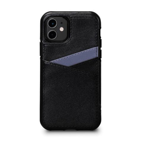SENA Cases Lugano Wallet Case for iPhone 11 (Black/Periwinkle) - SFD42807NPUS