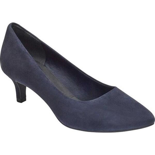 dfefcdbdeee Shop Rockport Women s Total Motion Kalila Pump Dark Sapphire Suede ...