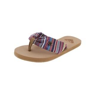 Roxy Girls Sand Dune Flip-Flops Striped Thong