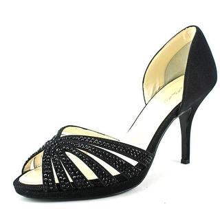 Caparros Nova Peep-Toe Canvas Heels
