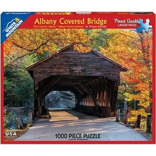 Jigsaw Puzzle 1000 Pieces 24 x 30 in. Albany Covered Bridge