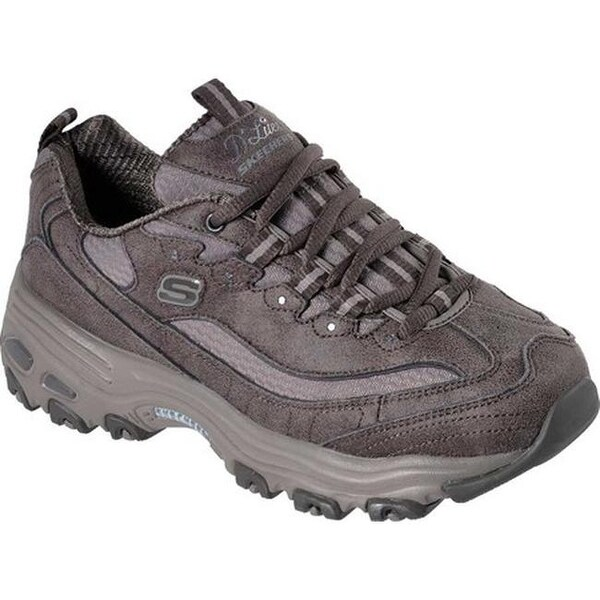b6172b40c0f Shop Skechers Women s D Lites New School Sneaker Dark Taupe - Free ...