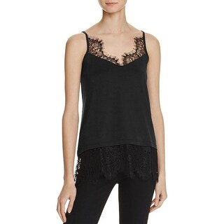 French Connection Womens Camisole Top Swift Drape Lace Trim