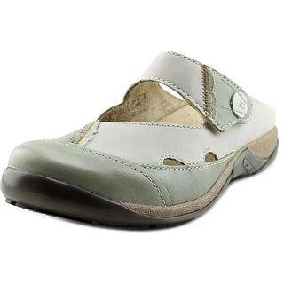 Romika Gina 01 Round Toe Leather Clogs