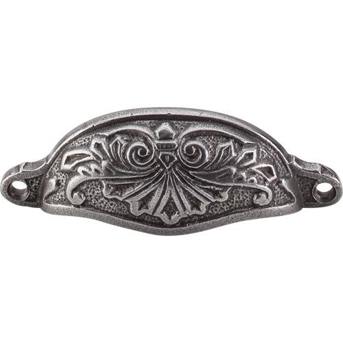 Top Knobs M61 Chateau II 3-15/16 Inch Center to Center Cup Cabinet Pull