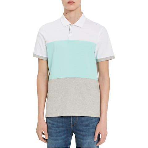 Calvin Klein Mens Colorblocked Rugby Polo Shirt, Multicoloured, Medium