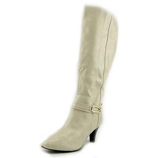 Karen Scott Holdenn Women Round Toe Synthetic Ivory Knee High Boot