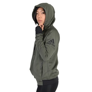 Adidas Womens Adidas Infinite Series Daybreaker Hoodie Army Green - Army Green/Black