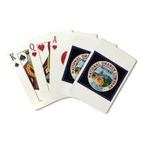 Riverside, CA National Brand Citrus Vintage Label (Poker Playing Cards Deck)