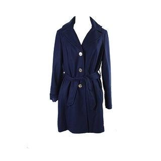 Michael Michael Kors Blue Hooded Belted Walker Coat - 16