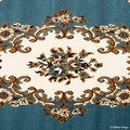 "Allstar Blue Woven High Quality Rug. Traditional. Persian. Flower. Western. Design Area Rug (5' 2"" x 7' 1"") - Thumbnail 3"
