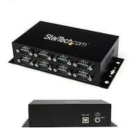 Startech Icusb2328i 8 Port Usb To Db9 Rs232 Serial Adapter Hub, Black