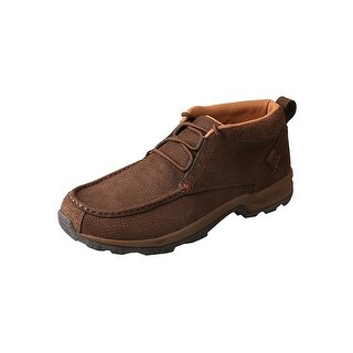 Twisted X Outdoor Shoes Mens Rubber Lace Up Hiker Chocolate