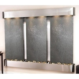 Adagio Deep Creek Falls Fountain w/ Black Featherstone in Stainless Steel Finish