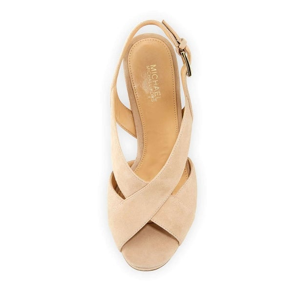 a9a7a8fe6b1 Michael Kors Womens Becky Platform Peep Toe Special Occasion Slingback  Sandals