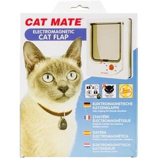 White - Cat Mate Electromagnetic Cat Flap