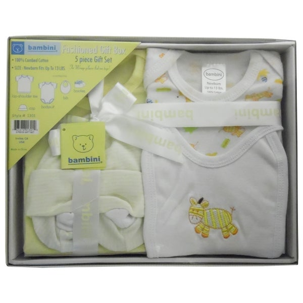 Bambini 5 Piece Gift Box - Yellow - Size - Newborn - Unisex