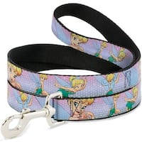 Dog Leash - Tinker Bell Poses Purple Pink Fade