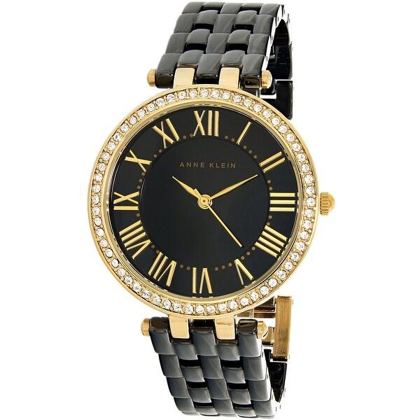 6d86b5ff7 Shop Anne Klein Women's Classic Black Ceramic Quartz Dress Watch - Free  Shipping Today - Overstock - 19537470