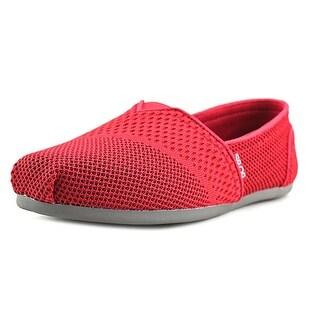 Bobs by Skechers Plush-Urban Trails Women Round Toe Canvas Red Walking Shoe