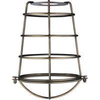 Westinghouse 85030 Cylindrical Metal Cage Shade, Antique Brass