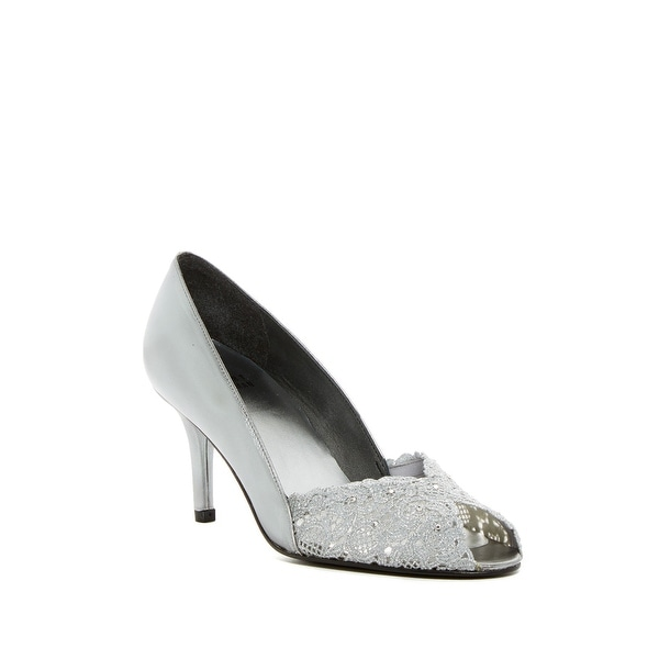 Stuart Weitzman NEW Silver Women's Shoes Size 7.5N Chantelle Pump