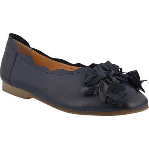 L'Artiste by Spring Step Women's Louisa Ballet Flat Blue Leather