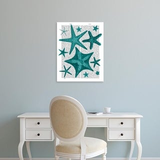 Easy Art Prints Fab Funky's 'Green Starfish Collection' Premium Canvas Art
