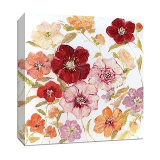 """PTM Images 9-147747  PTM Canvas Collection 12"""" x 12"""" - """"Avant Garden II"""" Giclee Flowers Art Print on Canvas"""