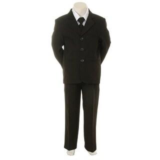 Kids Dream Black Necktie Vest Formal Special Occasion Boys Suit 1-4T
