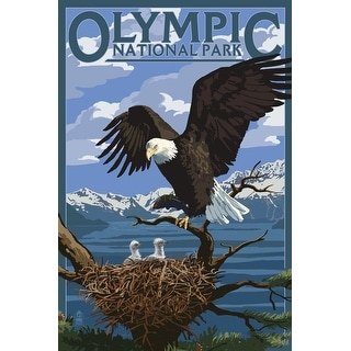 Olympic Park WA - Eagle and Chicks - LP Artwork (100% Canvas Tote Bag Gusset