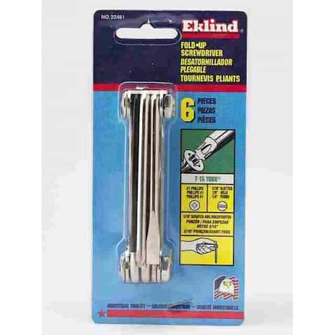 Eklind 22461 Fold-Up Screwdriver Set, 6 Piece