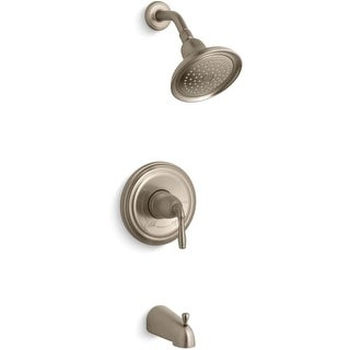Kohler K-TS395-4S Rite-Temp Pressure-Balancing Bath and Shower Faucet Trim With Lever Handle and Slip-Fit Spout from the