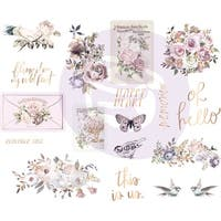 """Lavender Frost Chipboard Stickers 5""""X8"""" 2/Pkg-Icons W/Foil Accents"""