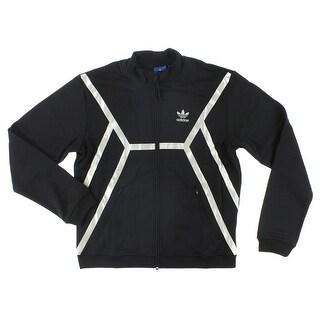 Adidas Mens Adidas Originals ZX Track Jacket Black - Black/silver