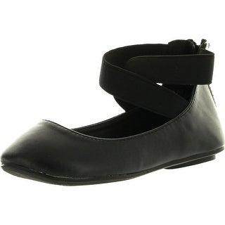 Anna Pam Kids Little Girls Ballet Flats Ankle Strap Shoes