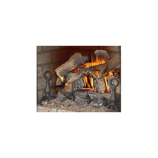 Napoleon GVFL30 40,000 BTU 30 Inch Wide Fiberglow Vent Free Gas Log Kit with Cast Iron Grate and Decorative Andirons (Option: Propane)