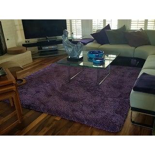 Safavieh Milan Shag Purple Rug (7' Square)